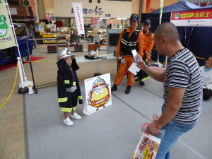まなぼう!消防士コーナー(記念撮影)